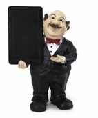 Decorative Chef - Waiter Fat Chef With Chalk Menu Sign