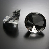 Decorative Diamond Paperweights Pkg of 2 - Clear