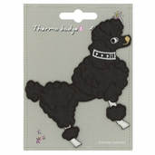 Decorative Patches - Black - Poodle - Large