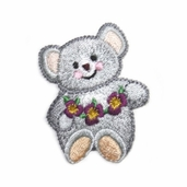Decorative Patches - Grey Bear