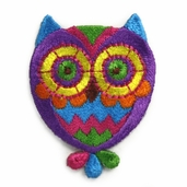Decorative Patches - Mutli Colored Owl