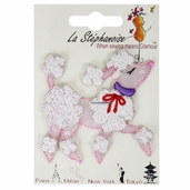 Decorative Patches - Pink - Poodle