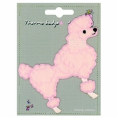 Decorative Patches - Pink - Poodle - Large