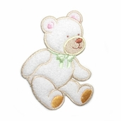 Decorative Patches - White Bear