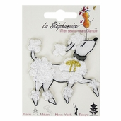 Decorative Patches - White - Poodle