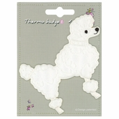 Decorative Patches - White - Poodle - Large