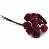 Decorative Wedding Flower 12 Pack Bundle - Burgundy