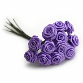 Decorative Wedding Flower 12 Pack Bundle - Lavender