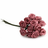 Decorative Wedding Flower 12 Pack Bundle - Mauve