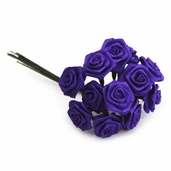 Decorative Wedding Flower 12 Pack Bundle - Purple