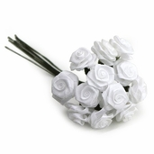 Decorative Wedding Flower 12 Pack Bundle - White