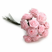 Decorative Wedding Flower 12 Pack - Pink