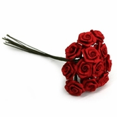 Decorative Wedding Flower 12 Pack - Red