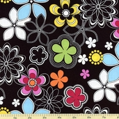 Delight Cotton Fabric - Black 35190-X