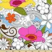 Delight Cotton Fabric White 35189-X