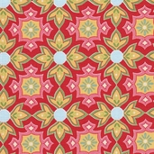 Delighted! Cotton Fabric - Red