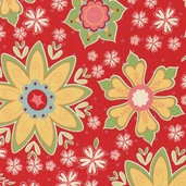 Delighted! Cotton Fabrics - Red