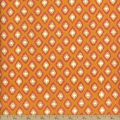 Dena Designs Tangier Ikat Diamonds Cotton Fabric - Orange