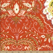 Dena Designs Tangier Ikat Vine Cotton Fabric - Orange