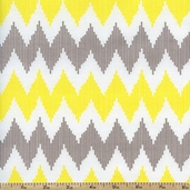 Design Studio Chevron Cotton Fabric - Yellow