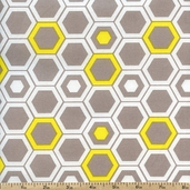 Design Studio Hexagon Cotton Fabric - Yellow