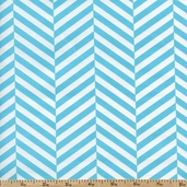 Design Studio Stripes Cotton Fabric - Aqua