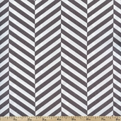 Design Studio Stripes Cotton Fabric - Grey