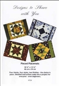 Designs to Share with You - Pieced Placemats