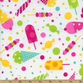 Dessert Party Cotton Fabric - Sorbet AAK-12047-239 SORBET - Sale