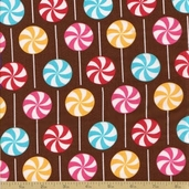 Dessert Party Cotton Fabric - Summer Lollipops