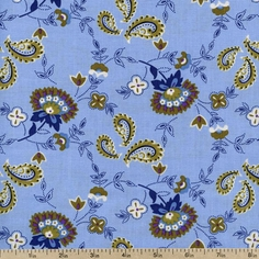 Dilly Day Brambles Cotton Fabric - Denim 120-4491