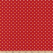 Dilly Day Dots Cotton Fabric - Ruby 120-4552 - Clearance