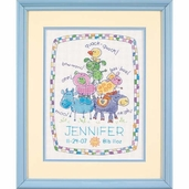 Dimensions Cross Stitch Kit: Farm Friends Birth Record