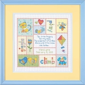 Dimensions Cross Stitch Kit: Patchwork Baby Birth Record