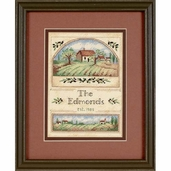 Dimensions Cross Stitch Kit: Tuscan Greeting Mini Stitchery Kit