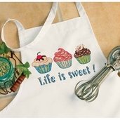 Dimensions Designer Apron: Life Is Sweet