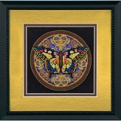 Dimensions Gold Collection Petites Ornate Butterfly Cross Stitch Kit