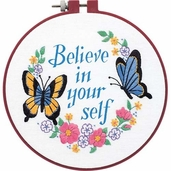 Dimensions Learn a Craft Beginners Crewel Kit - Believe In Yourself