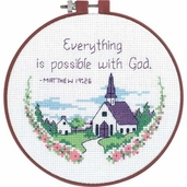 Dimensions Learn a Craft Beginners Cross Stitch Kit - Everything Is Possible