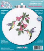 Dimensions Learn a Craft Beginners Cross Stitch Kit - Hummingbird Duo