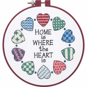 Dimensions Learn a Craft Beginners Stamped Cross Stitch Kit - Home And Heart