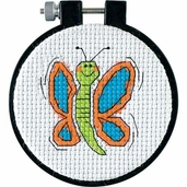 Dimensions Learn a Craft Counted Cross Stitch Kit - Happy Wings