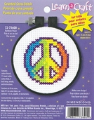 Dimensions Learn a Craft Counted Cross Stitch - Rainbow Peace Sign