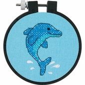 Dimensions Learn a Craft Stamped Cross Stitch Kit - Dolphin Delight