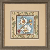 Dimensions Needlepoint Asian Orchids Mini Stitchery Kit