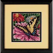 Dimensions Needlepoint Butterfly on Zinnia Mini Stitchery Kit