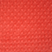 Dimple Minky Polyester Fabric - Cherry