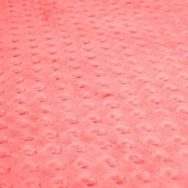 Dimple Minky Polyester Fabric - Coral
