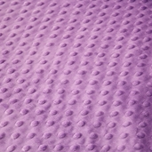 Dimple Minky Polyester Fabric - Mauve