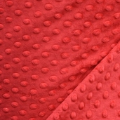 Dimple Minky Polyester Fabric - Red
